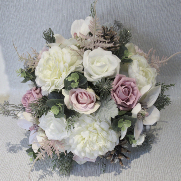 Dusky Pink & Blush Bridal Bouquet
